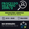 Processo Seletivo INCOP 2019/2
